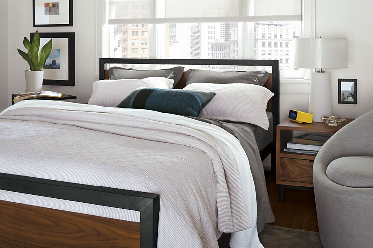 Modern all the way, this bed features a minimal yet durable design for someone who likes a very functional bedroom.