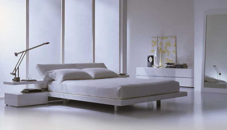 Great bedroom look for someone who's going for a modern clean and edgy style.