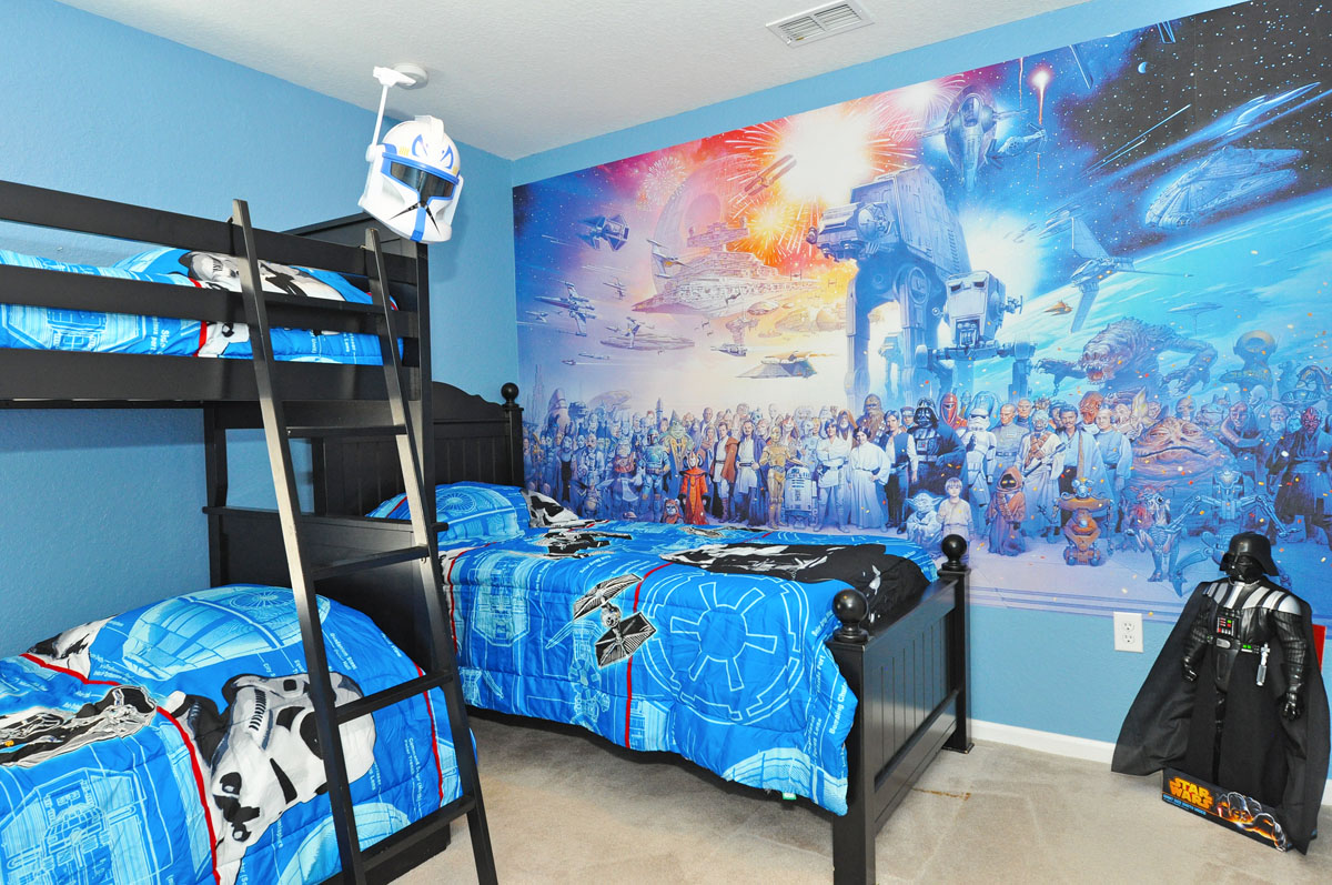 Star Wars wallpaper is a quick and effective way to get your kids bedroom set up on the Star Wars theme they've always wanted.