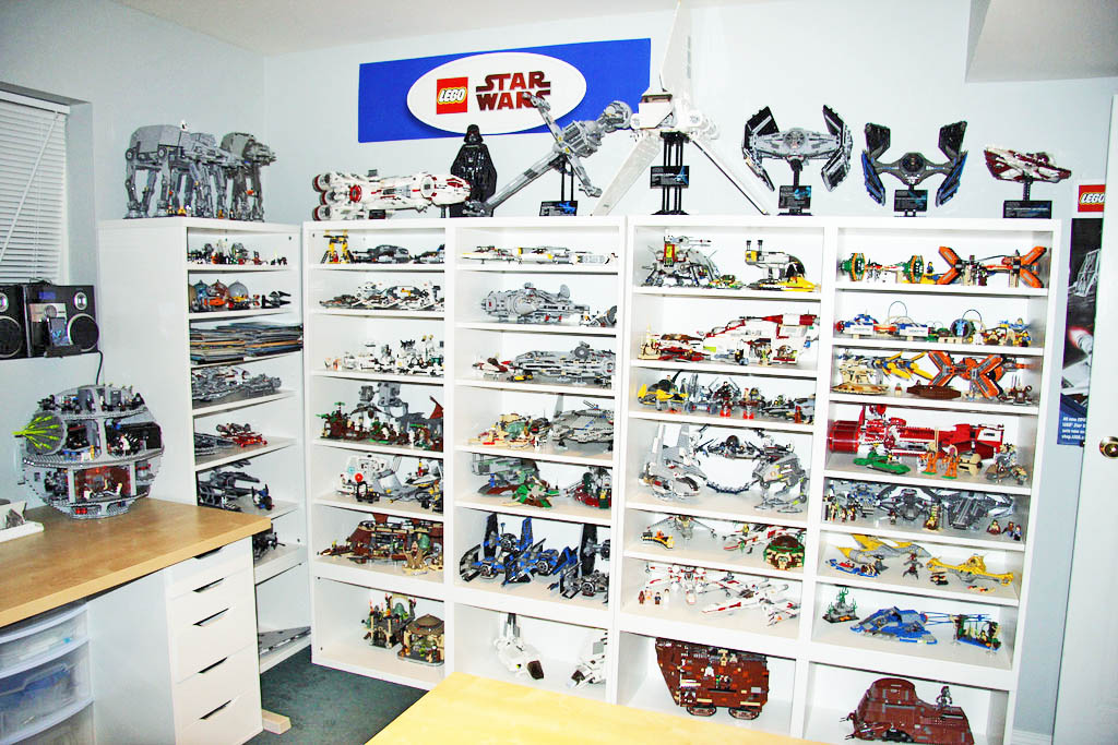You can always put up some shelves to feature your Star Wars Collection.