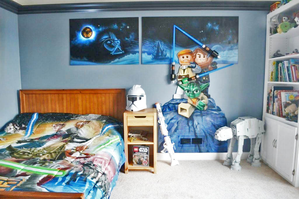 Lego Star Wars is a fun way to bring your kids bedroom to life.