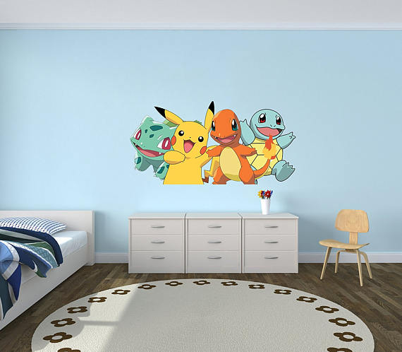 From the most basic of evolutions, this is the the original picture that displays friendship. Great vinyl piece! From left to right, you have Bulbasaur, Pikachu, Charmander, and Squirtle.