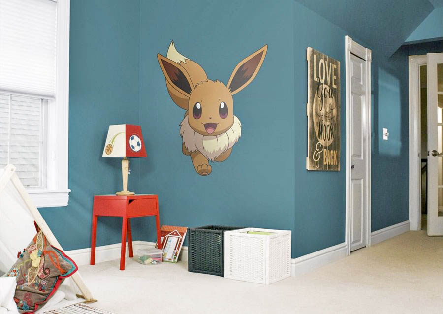 A large vinyl print of Eevee is a creative way to Pokémon your bedroom without going overboard.