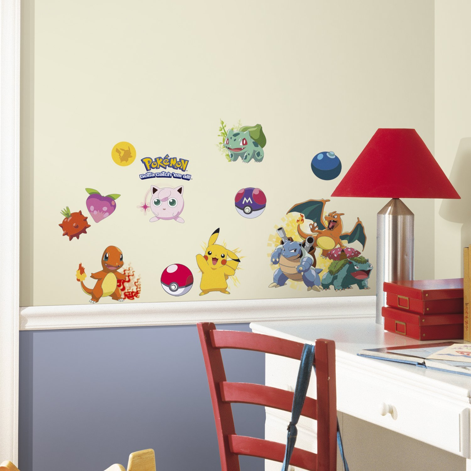 Small packs of Pokémon stickers allow your kids to get creative and decorate the room themselves.